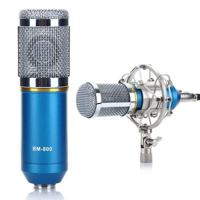 BM-800 Condenser Sound Recording Microphone + Metal Shock Mount Kit