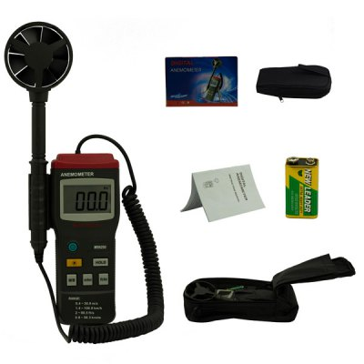 MASTECH MS6250 Professional Digital Anemometer Air Wind Flow Meter with LCD Backlight