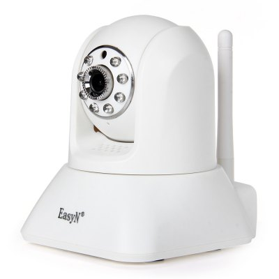 EasyN 187 1.3MP CMOS H.264 IR-CUT Wireless IP Camera with Dual Way Audio Support TF Card EU Plug - 100 - 240V