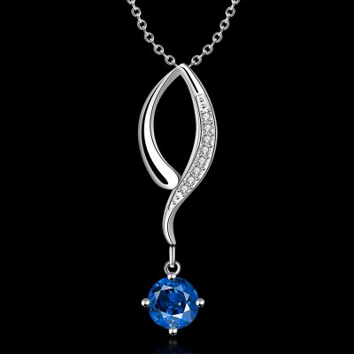Trendy Glitter Rhinestone Hollow Out Pendant Necklace For Women