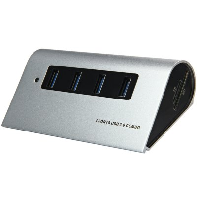 5Gbps 4 Ports USB 3.0 Hub + TF / SD Card Reader Combo