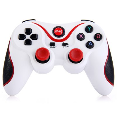 T3 Wireless Bluetooth 3.0 Gamepad Gaming ControllerGame Controllers<br>T3 Wireless Bluetooth 3.0 Gamepad Gaming Controller<br><br>Bluetooth Version: V3.0<br>Capacity: 500mAh<br>Compatible with: Smartphone<br>Features: Charger<br>Functions: Bluetooth<br>Model: T3<br>Package Contents: 1 x T3 Bluetooth Gamepad, 1 x USB Cable, 1 x User Manual in English and Chinese<br>Package size: 17.00 x 11.00 x 6.50 cm / 6.69 x 4.33 x 2.56 inches<br>Package weight: 0.240 kg<br>Product size: 14.50 x 9.60 x 2.50 cm / 5.71 x 3.78 x 0.98 inches<br>Product weight: 0.131 kg