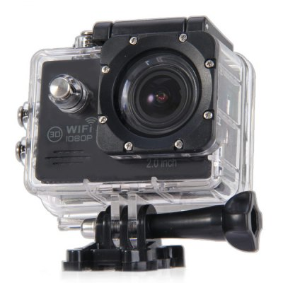 SJ7000 Waterproof Sport Video CamcorderAction Cameras<br>SJ7000 Waterproof Sport Video Camcorder<br><br>Model: SJ7000<br>Type: Sports Camera<br>Chipset Name: Novatek<br>Chipset: Novatek 96655<br>System requirements: Mac OS x 10.3.6 above,Win 7,Windows 2000 / XP / Vista<br>Max External Card Supported: TF 32G (not included)<br>Class Rating Requirements: Class 10 or Above<br>Screen size: 2.0inch<br>Screen type: LCD<br>Screen resolution: 960 x 240<br>Battery Type: Removable<br>Charge way: AC adapter,USB charge by PC<br>Working Time: About 90 minutes 1080P 30fps<br>Decode Format: H.264<br>Video format: MOV<br>Video Resolution: 1080P(30fps),720P (60fps)<br>Video Frame Rate: 30FPS,60FPS<br>Video System: NTSC,PAL<br>Video Output : HDMI<br>Image Format : JPG<br>Exposure Compensation: +1,+1/3,+2,+4/3,+5/3,-1,-1/3,-2,-2/3,-4/3,-5/3,0,2/3<br>White Balance Mode: Auto,Cloudy,Daylight,Fluorescent,Tungsten<br>Microphone: Built-in<br>WIFI: Yes<br>Waterproof: Yes<br>Water Resistant: 30m<br>Loop-cycle Recording : Yes<br>Motion Detection: Yes<br>Night vision : No<br>HDMI Output: Yes<br>Camera Timer: No<br>Time lapse: No<br>Auto Focusing: No<br>Anti-shake: No<br>Aerial Photography: No<br>Interface Type: HDMI,Micro USB<br>Language: English,French,Italian,Polski,Russian,Simplified Chinese,Spanish<br>Product weight: 0.156 kg<br>Package weight: 0.556 kg<br>Product size (L x W x H): 8.00 x 8.00 x 4.00 cm / 3.15 x 3.15 x 1.57 inches<br>Package size (L x W x H): 28.00 x 18.00 x 7.00 cm / 11.02 x 7.09 x 2.76 inches<br>Package Contents: 1 x Sports Camera, 1 x USB Cable, 2 x 3M Double-sided Adhesive, 1 x EU Charger Adapter, 1 x Steel Wire Rope, 4 x Ribbon, 4 x Bandage, 1 x Waterproof Back Cover, 10 x Install Accessories, 1 x English-C