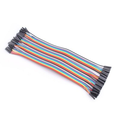 40-Pin F - F Rainbow Dupont Cable Female to Female Jumper Wire for Arduino