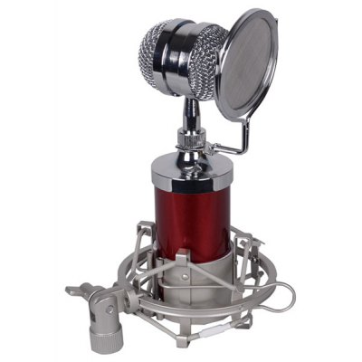 BM-8000 Condenser Sound Recording Microphone with Metal Shock Mount for Desktop Laptop