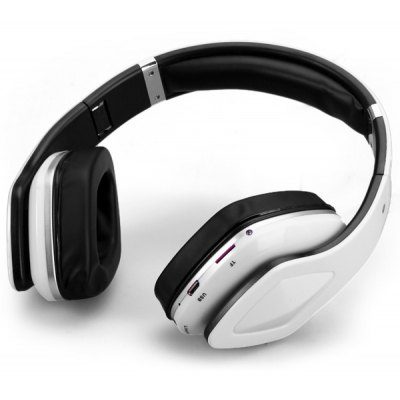 SKY001 Foldable Bluetooth 3.0 Headset Wireless Handsfree Stereo Earphone Support TF Card / MP3 Player / FM Function