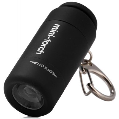 25 Lumens USB Rechargeable LED Flashlight Torch Pocket Keychain