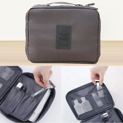 Dixiu Portable Travelling Organizer Bag Cosmetic Storage Bag with Many PocketsCamping / Hiking<br>Dixiu Portable Travelling Organizer Bag Cosmetic Storage Bag with Many Pockets<br><br>Type: Luggage Bag<br>For: Camping,Hiking,Travel<br>Material: Nylon<br>Color: Blue,Orange,Gray,Wine red,Cadetblue,Watermelon Red<br>Product weight: 0.150 kg<br>Package weight: 0.120 kg<br>Product size (L x W x H): 22.00 x 18.00 x 8.00 cm / 8.66 x 7.09 x 3.15 inches<br>Package size (L x W x H): 18.00 x 15.00 x 5.00 cm / 7.09 x 5.91 x 1.97 inches<br>Package Contents: 1 x Travelling Wash Bag
