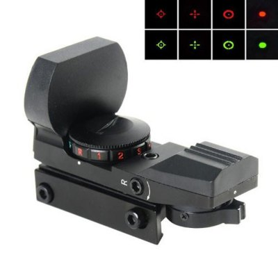 4 Reticle Red / Green Dot Sight Optical ScopeGun Scopes and Sights<br>4 Reticle Red / Green Dot Sight Optical Scope<br><br>Field of view: 15.7m / 100m<br>Magnification: 1X<br>Objective Lens Dimension: 33mm<br>Package Contents: 1 x Optical Sight Scope, 1 x Clean Cloth, 1 x Lens Cover, 2 x Wrenches, 1 x English User Manual<br>Package size (L x W x H): 13.00 x 10.00 x 6.00 cm / 5.12 x 3.94 x 2.36 inches<br>Package weight: 0.2250 kg<br>Power Supply: 1 x CR2031 battery ( included )<br>Product Color: Black<br>Product size (L x W x H): 8.00 x 3.00 x 5.70 cm / 3.15 x 1.18 x 2.24 inches<br>Product weight: 0.1150 kg<br>Reticle Color: Red and green for selecting<br>Reticle Mode: 5 modes<br>Reticle Pattern: 4 patterns
