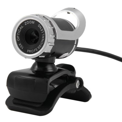 360 Degree Rotatable HD Webcam Clip-on Web PC Camera
