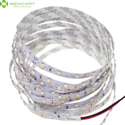 5 Meters x 60 SMD - 2835 LEDs 3000K 1500LM Cuttable Adhesive Warm White LED Light Strip ( 30W DC 12V )