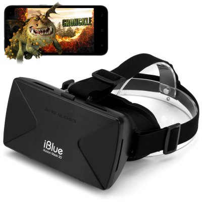 iBlue Universal 3D Virtual Reality VR Glasses Headset Smart Phone 3D Private Theater with Magnetic Sensor for 4 - 6.5 inches Smartphone