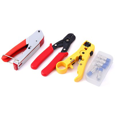WLXY WL - 35 Professional Network Tools Kit Bag Wire Pressing Pliers / Cutter / Stripper  / F Head Set