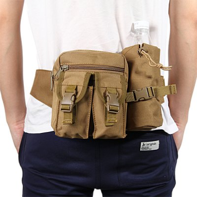 Multipurpose Waist Bag with Bottle Pack for Outdoor Cycling Camping TravelingWaistpacks<br>Multipurpose Waist Bag with Bottle Pack for Outdoor Cycling Camping Traveling<br><br>Bag Capacity: 15L<br>Capacity: 11 - 20L<br>For: Climbing, Cycling, Hiking, Other, Sports, Tactical<br>Material: Canvas<br>Package Contents: 1 x Waist Bag, 1 x Bottle Pack<br>Package size (L x W x H): 18.50 x 17.50 x 7.50 cm / 7.28 x 6.89 x 2.95 inches<br>Package weight: 0.348 kg<br>Product size (L x W x H): 17.00 x 15.00 x 6.00 cm / 6.69 x 5.91 x 2.36 inches<br>Product weight: 0.318 kg<br>Type: Waist Bag