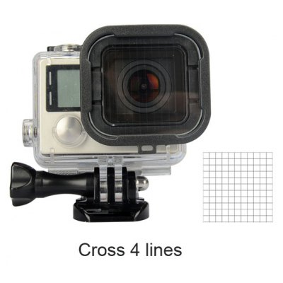4 - Line Night View Photograph Starburst Filter Lens Protector for GoPro Hero 3+ / 4