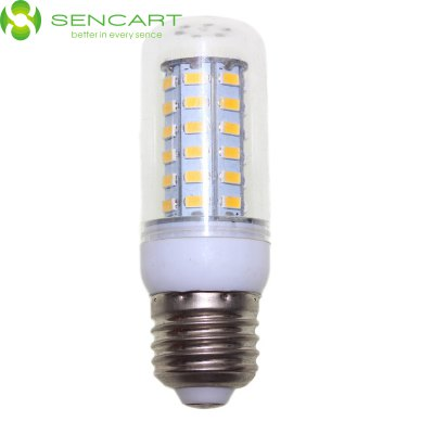 Sencart E27 5W 56 x SMD 5730 600LM 6000K Dimmable LED Light Bulb AC 110 - 240VLED Bi-pin Lights<br>Sencart E27 5W 56 x SMD 5730 600LM 6000K Dimmable LED Light Bulb AC 110 - 240V<br><br>Angle: 360<br>Available Light Color: Cool White,Warm White<br>Brand: Sencart<br>CCT/Wavelength: 3500K,6000K<br>Emitter Types: SMD 5730<br>Features: 100% Brightness, Low Power Consumption, Energy Saving, Dimmable, Long Life Expectancy<br>Function: Studio and Exhibition Lighting, Outdoor Lighting, Commercial Lighting, Home Lighting<br>Holder: E27<br>Lifespan: 50000 hrs<br>Luminous Flux: 600Lm<br>Output Power: 5W<br>Package Contents: 1 x Sencart LED Corn Bulb<br>Package size (L x W x H): 12.000 x 5.000 x 5.000 cm / 4.724 x 1.969 x 1.969 inches<br>Package weight: 0.100 KG<br>Product size (L x W x H): 9.500 x 3.100 x 3.100 cm / 3.74 x 1.22 x 1.22 inches<br>Product weight: 0.035KG<br>Sheathing Material: ABS<br>Total Emitters: 56 LEDs<br>Type: Corn Bulbs<br>Voltage (V): AC110-240