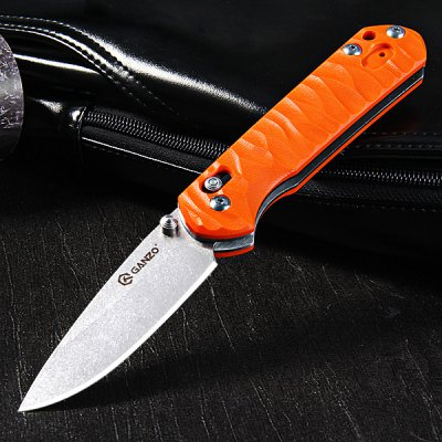 Ganzo G717 - OR Portable Axis Locking Foldable Camping Hunting Knife 440C Stainless Steel Blade