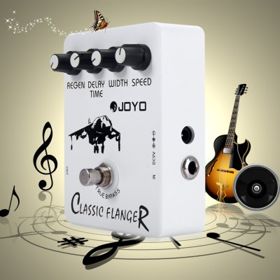 JOYO JF - 07 True Bypass Design Classic Flanger Electric Guitar Effect Pedal with BBD Simulation Circuit
