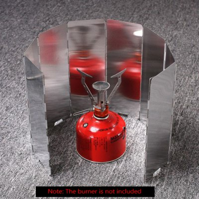 Foldable Windproof Aluminum Alloy 8 in 1 Plates for Outdoor Camping Gas Stove / Cooking Burner