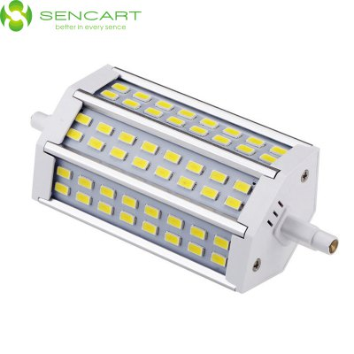 Sencart R7S J118 15W 6000K 1200LM 48 x SMD 5730 White LED Horizontal Plug Light ( AC 85 - 265V )Corn Bulbs<br>Sencart R7S J118 15W 6000K 1200LM 48 x SMD 5730 White LED Horizontal Plug Light ( AC 85 - 265V )<br><br>Angle: 120 degrees<br>Available Light Color: White,Warm White<br>Brand: Sencart<br>Bulb Base Type: R7S<br>CCT/Wavelength: 3000K,6000K<br>Emitter Type: SMD 5730<br>Features: 100% Brightness, Energy Saving, Low Power Consumption, Long Life Expectancy<br>Function: Studio and Exhibition Lighting, Outdoor Lighting, Home Lighting, Commercial Lighting<br>Lifespan: 50000 hours<br>Luminous Flux: 1200LM<br>Output Power: 15W<br>Package Contents: 1 x 6000K SMD 5730 LED Light<br>Package size (L x W x H): 14.00 x 8.00 x 5.00 cm / 5.51 x 3.15 x 1.97 inches<br>Package weight: 0.1400 kg<br>Product size (L x W x H): 11.80 x 5.00 x 3.10 cm / 4.65 x 1.97 x 1.22 inches<br>Product weight: 0.0700 kg<br>Rated Luminous Flux: 1500LM<br>Sheathing Material: Car aluminum<br>Total Emitters: 48<br>Type: Horizontal Plug Lamp<br>Voltage (V): AC85-265