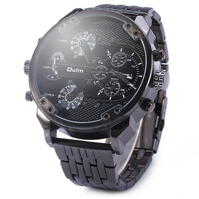 Oulm 3548 Men Dual-movt Japan Quartz Watch with Big Dial Stainless Steel BandMens Watches<br>Oulm 3548 Men Dual-movt Japan Quartz Watch with Big Dial Stainless Steel Band<br><br>Available Color: Black,White,Gold,Coppery<br>Band material: Stainless Steel<br>Brand: Oulm<br>Case material: Stainless Steel<br>Clasp type: Folding clasp with safety<br>Display type: Analog<br>Movement type: Quartz watch<br>Package Contents: 1 x Oulm 3548 Watch<br>Package size (L x W x H): 17.5 x 6.7 x 2.5 cm / 6.88 x 2.63 x 0.98 inches<br>Package weight: 0.259 kg<br>Product size (L x W x H): 16.5 x 5.7 x 1.5 cm / 6.48 x 2.24 x 0.59 inches<br>Product weight: 0.209 kg<br>Shape of the dial: Round<br>Special features: Decorating small sub-dials<br>The band width: 2.4 cm / 0.94 inches<br>The dial diameter: 5.7 cm / 2.24 inches<br>The dial thickness: 1.5 cm / 0.59 inches<br>Watch style: Fashion<br>Watches categories: Male table