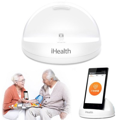 Original Xiaomi iHealth Smart Blood Pressure Dock MonitorMonitoring &amp; Testing<br>Original Xiaomi iHealth Smart Blood Pressure Dock Monitor<br><br>Brand: Xiaomi<br>Package Contents: 1 x iHealth Smart Blood Pressure Dock, 1 x Cuff,1 x Charging Cable<br>Package Size ( L x W x H ): 16.50 x 19.30 x 7.60 cm / 6.5 x 7.6 x 2.99 inches<br>Package weight: 0.6170 kg<br>Product Size  ( L x W x H ): 11.50 x 11.50 x 6.50 cm / 4.53 x 4.53 x 2.56 inches<br>Product weight: 0.0900 kg