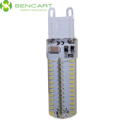 G9 AC 110 - 130V 500LM 5W 104 SMD 3014 LED Cool White Waterproof LED Corn Lamp ( 5000 - 6500K )LED Bi-pin Lights<br>G9 AC 110 - 130V 500LM 5W 104 SMD 3014 LED Cool White Waterproof LED Corn Lamp ( 5000 - 6500K )<br><br>Angle: 360<br>Available Light Color: Warm White,Cold White<br>Brand: Sencart<br>Bulb Base Type: G9<br>Emitter Type: 3014SMD LED<br>Features: 100% Brightness, Long Life Expectancy, Energy Saving, Low Power Consumption<br>Function: Studio and Exhibition Lighting, Outdoor Lighting, Home Lighting, Commercial Lighting<br>Lifespan: 50000<br>Luminous Flux: 550<br>Output Power: 5W<br>Package Contents: 1 x G9 LED Light Bulb<br>Package size (L x W x H): 7 x 2.5 x 2.5 cm / 2.75 x 0.98 x 0.98 inches<br>Package weight: 0.065 kg<br>Product size (L x W x H): 6 x 2 x 2 cm / 2.36 x 0.79 x 0.79 inches<br>Product weight: 0.011 kg<br>Rated Luminous Flux: 650<br>Sheathing Material: Silicone<br>Total Emitters: 104<br>Type: Corn Bulbs<br>Voltage (V): AC 110-120V