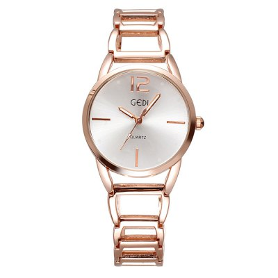 GEDI Luminous Analog Japan Quartz Bracelet Ladies Chain Watch with Hollow Out Alloy BandWomens Watches<br>GEDI Luminous Analog Japan Quartz Bracelet Ladies Chain Watch with Hollow Out Alloy Band<br><br>Available Color: Rose Gold,Silver<br>Band material: Alloys<br>Brand: GEDI<br>Case material: Alloy<br>Clasp type: Hook buckle<br>Display type: Analog<br>Movement type: Quartz watch<br>Package Contents: 1 x GEDI Watch<br>Package size (L x W x H): 21.5 x 4.6 x 2 cm / 8.45 x 1.81 x 0.79 inches<br>Package weight: 0.103 kg<br>Product size (L x W x H): 20.5 x 3.6 x 1 cm / 8.06 x 1.41 x 0.39 inches<br>Product weight: 0.053 kg<br>Shape of the dial: Round<br>Style: Fashion&amp;Casual, Bracelet<br>The band width: 1.5 cm / 0.59 inches<br>The dial diameter: 3.6 cm / 1.41 inches<br>The dial thickness: 1.0 cm / 0.39 inches<br>Watches categories: Female table