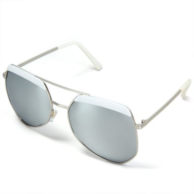 Ourspop OP  -  002 Outdoor Sports Silver Polarized Lens Silver Frame Sun Glasses for Women
