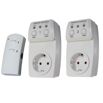 TS - 831 - 2 EU Plug Remote Wireless Controller Socket Set Switch for Lamps Household Appliance ( 2Pcs )