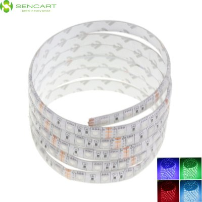 SENCART 300 x SMD - 5050 LED Waterproof Colorful Light LED Home Party Strip LightLED Strips<br>SENCART 300 x SMD - 5050 LED Waterproof Colorful Light LED Home Party Strip Light<br><br>Actual Lumens: 3600<br>Brand: Sencart<br>Chip Brand: Epistar<br>Connector Type: Wired<br>Features: Cuttable, Remote Control, Low Power Consumption, Waterproof, IP-68<br>Input Voltage: DC12<br>Length: 5<br>Material: Silicone, FPC<br>Number of LEDs: 300<br>Optional Light Color: Pink,Red,Blue,Green,Purple,Yellow,Warm White,Cold White,RGB,Neutral White<br>Package Contents: 1 x  5M 5050 LED Strip Light<br>Package size (L x W x H): 12 x 4 x 3 cm / 4.72 x 1.57 x 1.18 inches<br>Package weight: 0.190 kg<br>Product size (L x W x H): 500 x 1 x 0.3 cm / 196.50 x 0.39 x 0.12 inches<br>Product weight: 0.120 kg<br>Theoretical Lumens: 4800