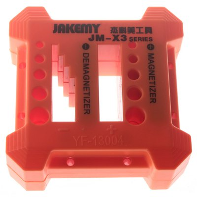 AKEMY JM - X3 Portable Precision Maintenance Tool Magnetize or Demagnetize ScrewdriverOther Tools<br>AKEMY JM - X3 Portable Precision Maintenance Tool Magnetize or Demagnetize Screwdriver<br><br>Brand: AKEMY<br>Model: JM - X3<br>Package Contents: 1 x JM - X3 Screwdriver Set<br>Package size (L x W x H): 17.2 x 13 x 6 cm / 6.76 x 5.11 x 2.36 inches<br>Package weight: 0.300 kg<br>Product size (L x W x H): 9.8 x 9.8 x 4.2 cm / 3.85 x 3.85 x 1.65 inches<br>Product weight: 0.200 kg<br>Screw Head Type: All-in-One<br>Special function: for maintaining mobile phone / tablet PC