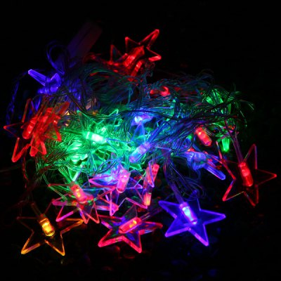 String Lights Typo : 6m 28 LEDs Color Changing Christmas Star RGB LED String Light Curtain Lamp for Outdoor Garden ...
