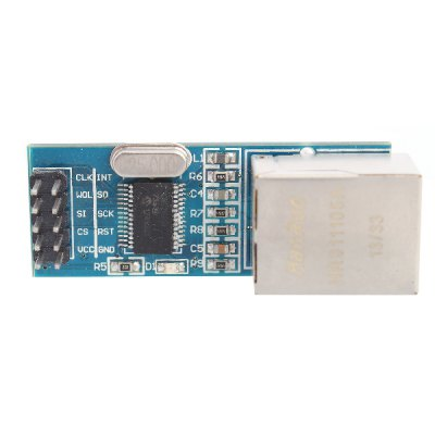 Mini ENC28J60 Ethernet LAN Network Module for Arduino 51 AVR SPI PIC STM32 LPCOther Accessories<br>Mini ENC28J60 Ethernet LAN Network Module for Arduino 51 AVR SPI PIC STM32 LPC<br><br>Material: CCL + component<br>Model: ENC28J60<br>Package Contents: 1 x module<br>Package Size(L x W x H): 7 x 3 x 3 cm / 2.75 x 1.18 x 1.18 inches<br>Package weight: 0.075 kg<br>Product Size(L x W x H): 5.2 x 2 x 1.8 cm / 2.04 x 0.79 x 0.71 inches<br>Product weight: 0.010 kg<br>Type: Ethernet module