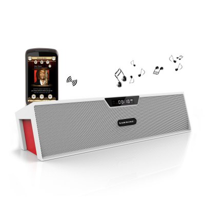 SARDiNE SDY019 Wireless Bluetooth Speaker Dual Loudspeaker Hi-Fi Sound with MIC FM Alarm Clock Functions for Smartphones Tablet PCs MP3 MP4 etc.