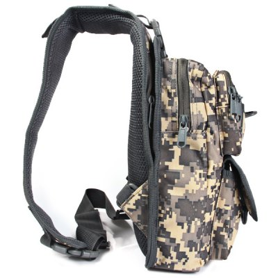 4.5L Capacity Outdoor Tactical Water Resistant Single Shoulder Chest BagSling Bag<br>4.5L Capacity Outdoor Tactical Water Resistant Single Shoulder Chest Bag<br><br>Bag Capacity: 4.5L<br>Capacity: 1 - 10L<br>Color: ACU Camouflage,Forest Camouflage,Forest Digital Camouflage,Mud Color<br>Features: Water Resistance<br>For: Cycling, Hiking, Sports, Climbing, Tactical<br>Material: Nylon<br>Package Contents: 1 x Single Shoulder Chest Bag<br>Package size (L x W x H): 43.00 x 20.00 x 8.00 cm / 16.93 x 7.87 x 3.15 inches<br>Package weight: 0.475 kg<br>Product size (L x W x H): 42.00 x 19.00 x 7.00 cm / 16.54 x 7.48 x 2.76 inches<br>Product weight: 0.433 kg<br>Type: Sling Bag