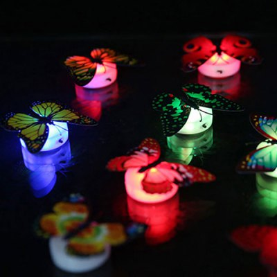 1pcs 3D Color Changing LED Butterfly Light Wall Night LightsWall Stickers<br>1pcs 3D Color Changing LED Butterfly Light Wall Night Lights<br><br>Features: Creative, Gift<br>For: Bar, Restaurant, Lover, Hotel, Home, Clothing Store, Cafe<br>Package Contents: 1 x LED Butterfly Light (with 2 x Button Battery)<br>Package size (L x W x H): 10.00 x 4.00 x 4.00 cm / 3.94 x 1.57 x 1.57 inches<br>Package weight: 0.040 kg<br>Power Supply: Battery<br>Product size (L x W x H): 7.00 x 2.20 x 3.00 cm / 2.76 x 0.87 x 1.18 inches<br>Product weight: 0.010 kg