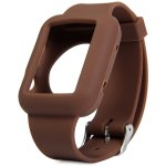 Silicone Buckle Watch Band Strap Stainless Steel Clasp for Apple Watch 42mm