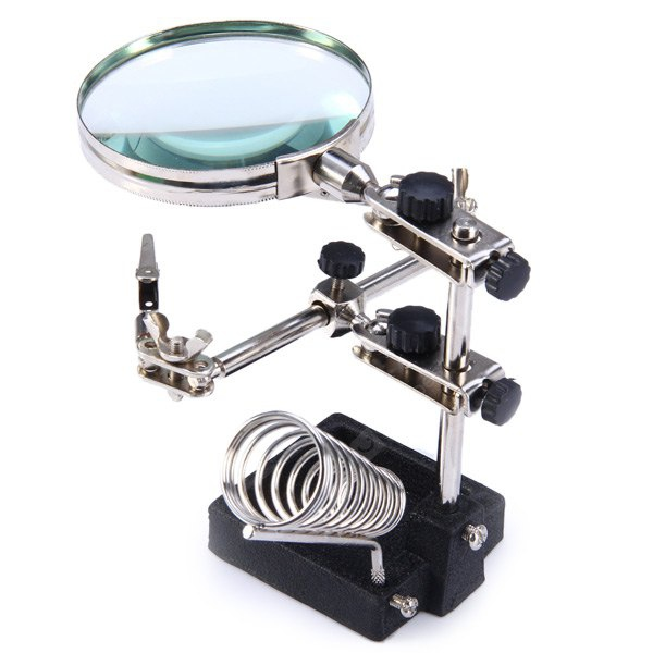 WLXY JM - 508 Multi-functional Welding Magnifying Glass Soldering Iron Stand Holder Table Magnifier COLORMIX