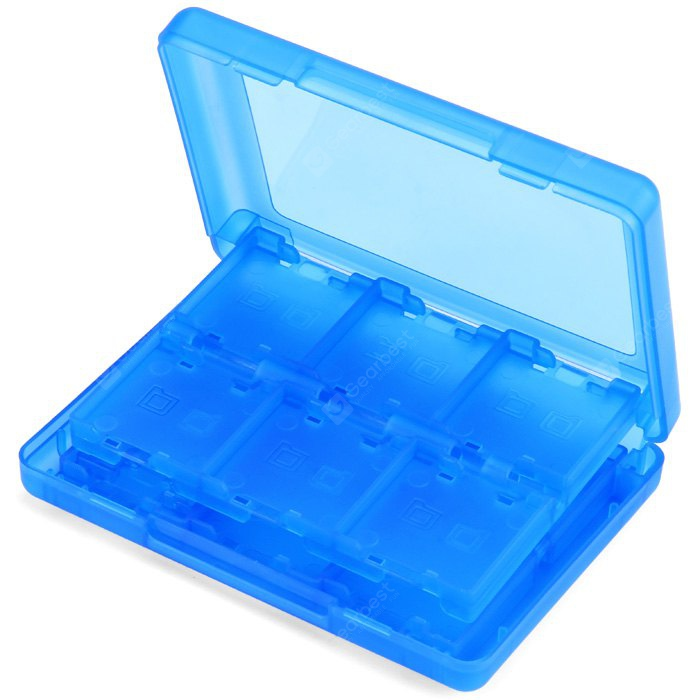 Image de Plastic Game Card Storage Box with 28 in 1 Design for Nintendo 3DS Game Card TF / SD Card