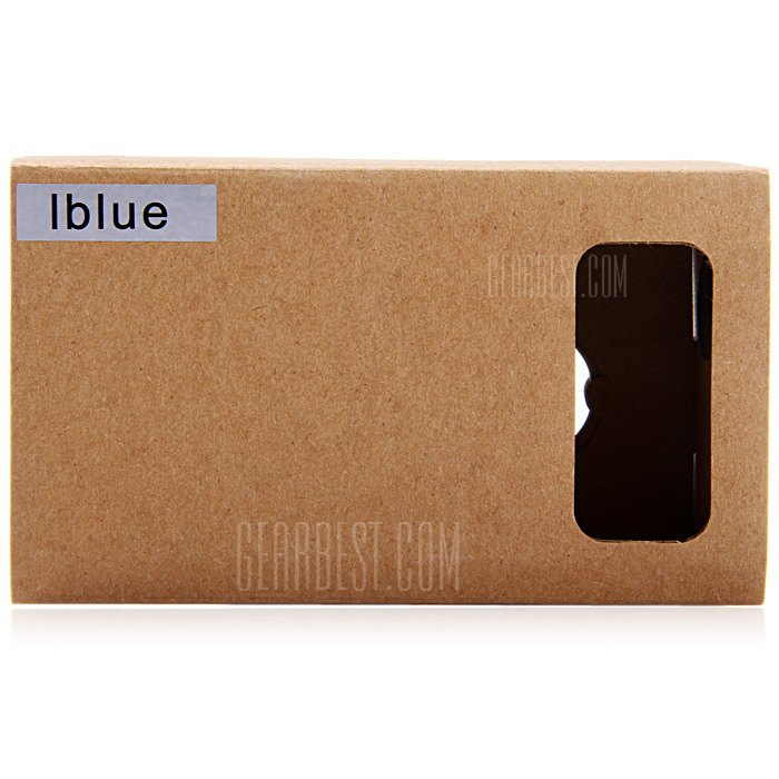 iBlue DIY Cardboard 3D VR Glasses Smart Phone 3D Private Theater with Magnetic Sensor for 3.5 - 5.5