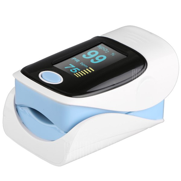 RZ001 OLED Display Fingertip Pulse Oximeter SpO2 Oxygen Monitor for Healthcare Home Use