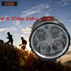 Buy SolarStorm X6 Cree XM - L T6 3000LM 4 Modes LED Headlight Bicycle Lamp + 18650 Battery Pack BLACK