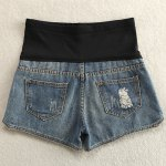 cheap Trendy Elastic Patchwork Side Zipper Embellished Maternity Shorts For Women