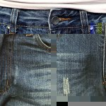 best Fashion Holes and Cat's Whisker Design Slimming Narrow Feet Men's Jeans
