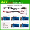 Durable 2 to 5 Balance USB Charger + 5 PCS 3.7V 500mAh LiPo with Protection Board + USB Cable for X5 / X5C / X5SC / X5SW / M68 / F949 RC Model Accessories