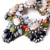 Sweet Rhinestone Floral Necklace For Women for sale