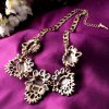 Sweet Rhinestone Floral Necklace For Women deal