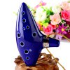 best 12 Holes Ocarina Ceramic Alto C Legend of Zelda Ocarina Flute Blue Instrument