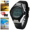 cheap PC2008 30M Water Resistant Heart Rate Monitor Watch with Backlight Alarm Stopwatch Calendar Pedometer Function